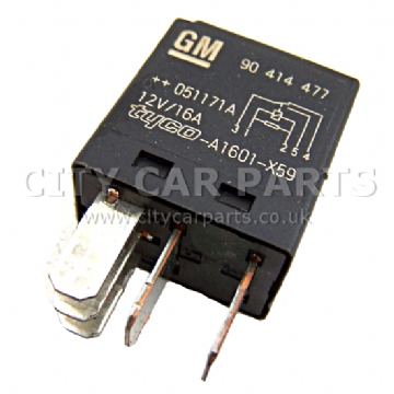 GENUINE VAUXHALL OPEL SAAB MULTI PURPOSE BLACK RELAY GM 90414477 12V/ 16AMP  5 PINS